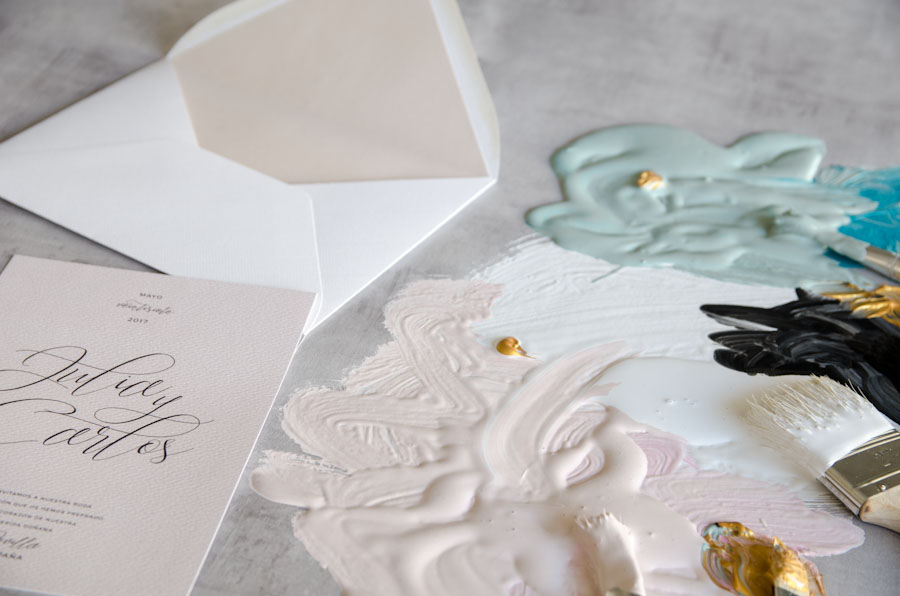 Tarjetas de invitaciones de boda elegantes caligrafia lettering (17)