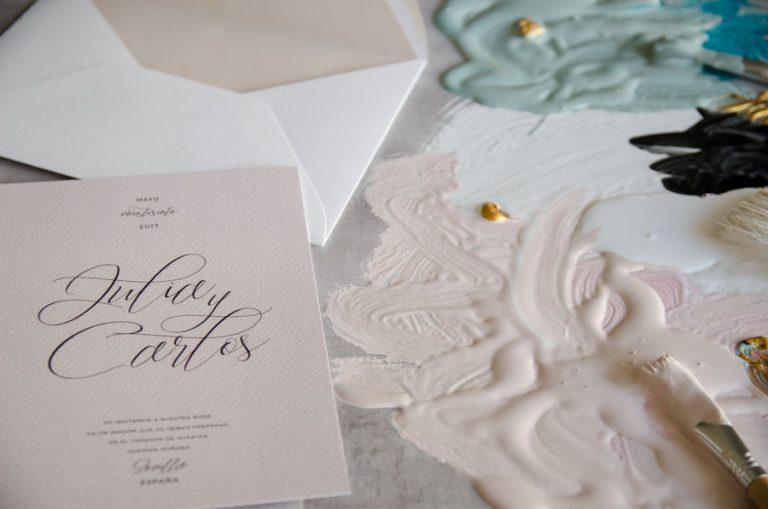 Tarjetas de invitaciones de boda elegantes caligrafia lettering (20)