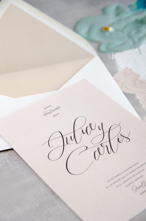 Tarjetas de invitaciones de boda elegantes caligrafia lettering (21)