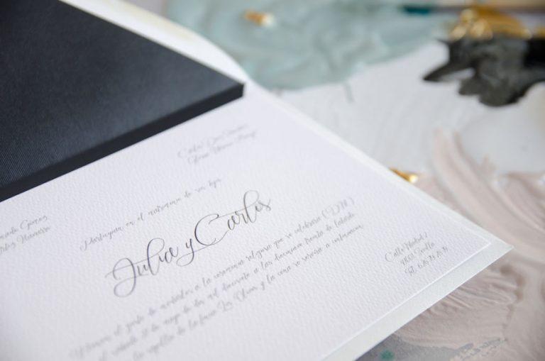 Tarjetas de invitaciones de boda elegantes caligrafia lettering (36)