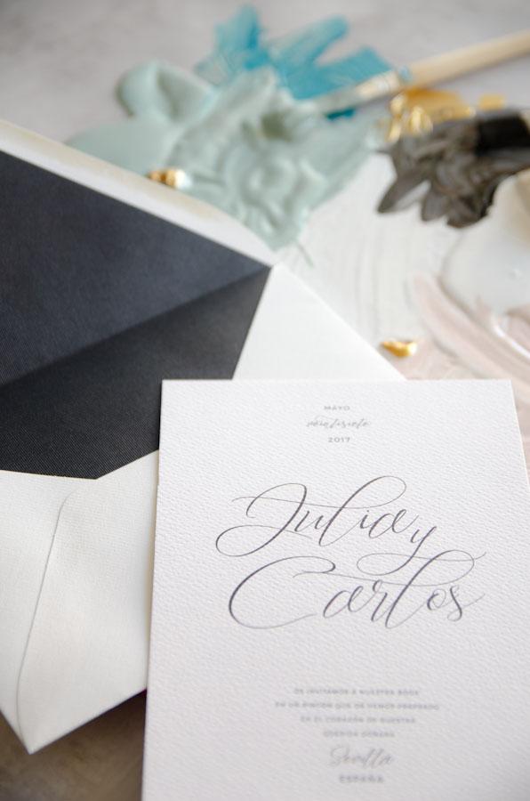 Tarjetas de invitaciones de boda elegantes caligrafia lettering (42)