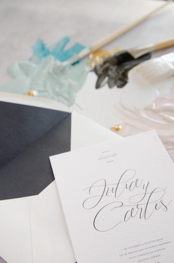 Tarjetas de invitaciones de boda elegantes caligrafia lettering (44)