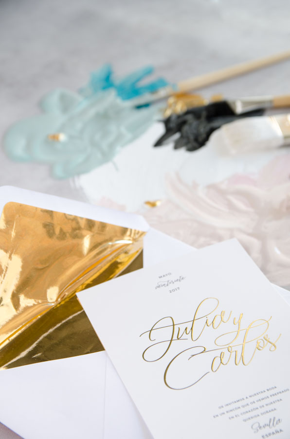 Tarjetas de invitaciones de boda elegantes caligrafia lettering (58)