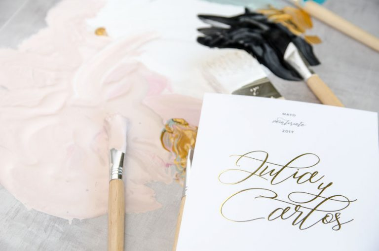 Tarjetas de invitaciones de boda elegantes caligrafia lettering (90)