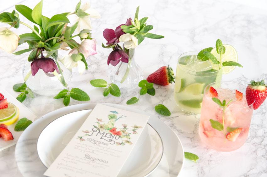 Tarjetas invitaciones de boda verano acuarela mojito sandalias-29