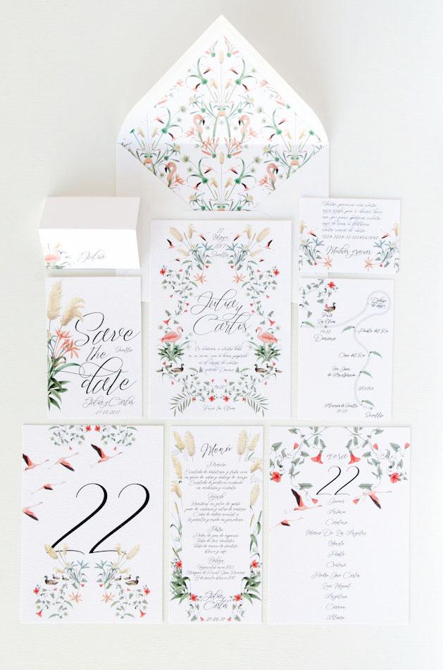 Invitaciones de boda acuarela Donana acuarela by Save the date projects-6