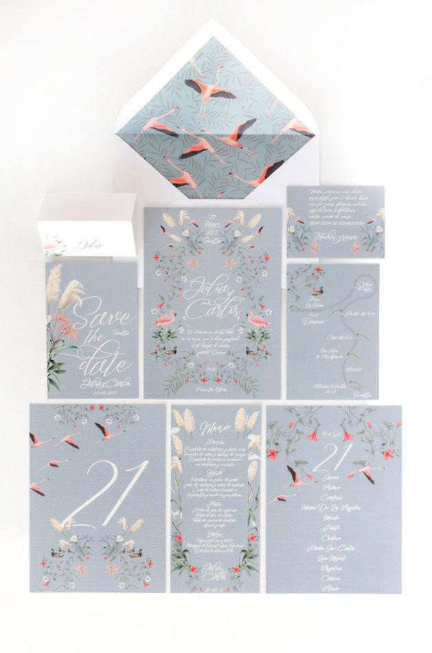 Invitaciones de boda acuarela Donana acuarela by Save the date projects-4