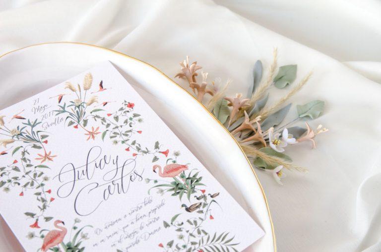 Invitaciones de boda acuarela Donana acuarela by Save the date projects-90