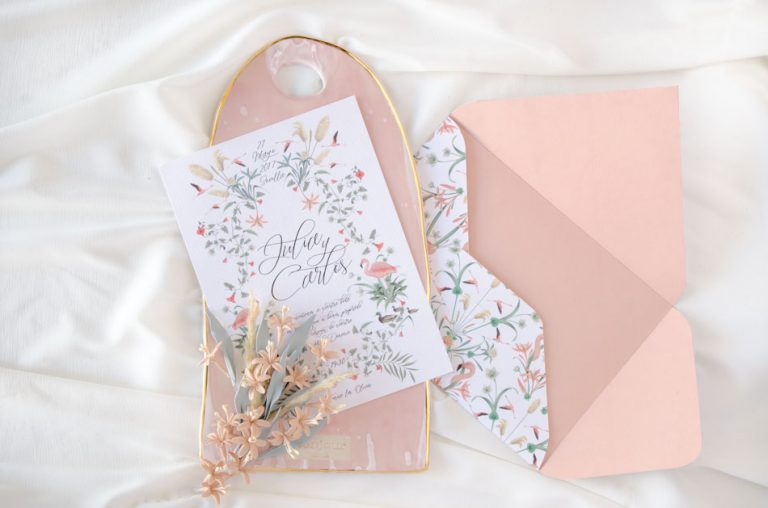Invitaciones de boda acuarela Donana corona acuarela by Save the date projects-8