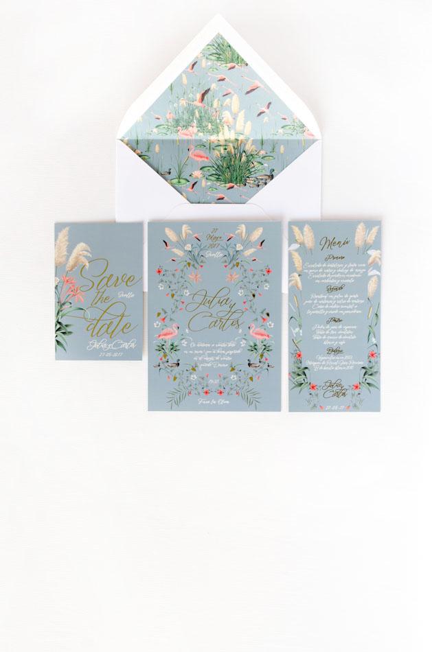 Invitaciones de boda dorada Donana acuarela by Save the date projects
