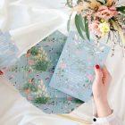Invitaciones de boda sobre troquelado con forro Donana acuarela by Save the date projects (6)