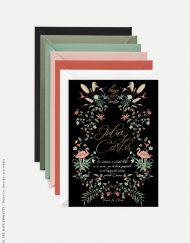 invitacion de boda con flamencos donana negra