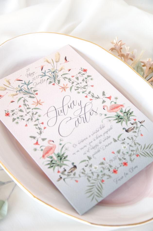 Invitaciones de boda acuarela Donana acuarela by Save the date projects-96