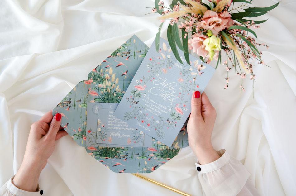 Invitaciones de boda acuarela Donana corona acuarela by Save the date projects-123