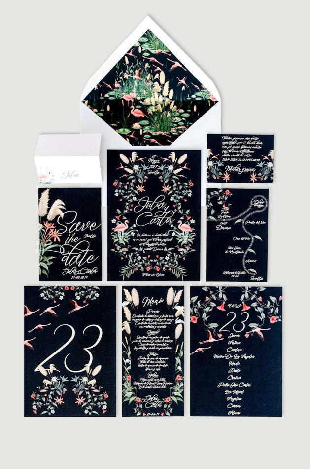 Invitaciones-de-boda-acuarela-tropical-donana-flamenco