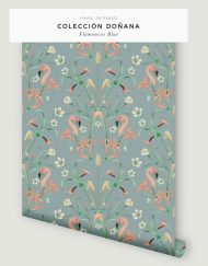 papel-pintado-tropical-con-flamencos-donana-BLUE-rollo