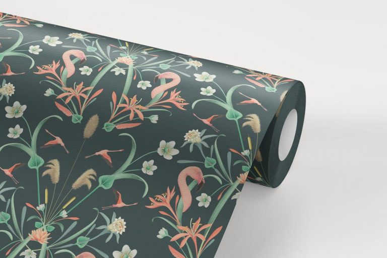 papel-pintado-tropical-con-flamencos-donana-DARK-rollo-detalle