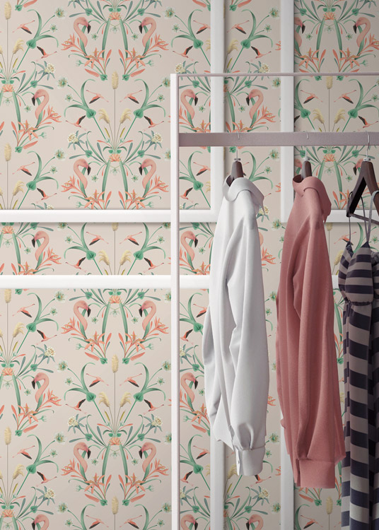 papel-pintado-tropical-con-flamencos-donana-NUDE-VESTIDOR-detalle