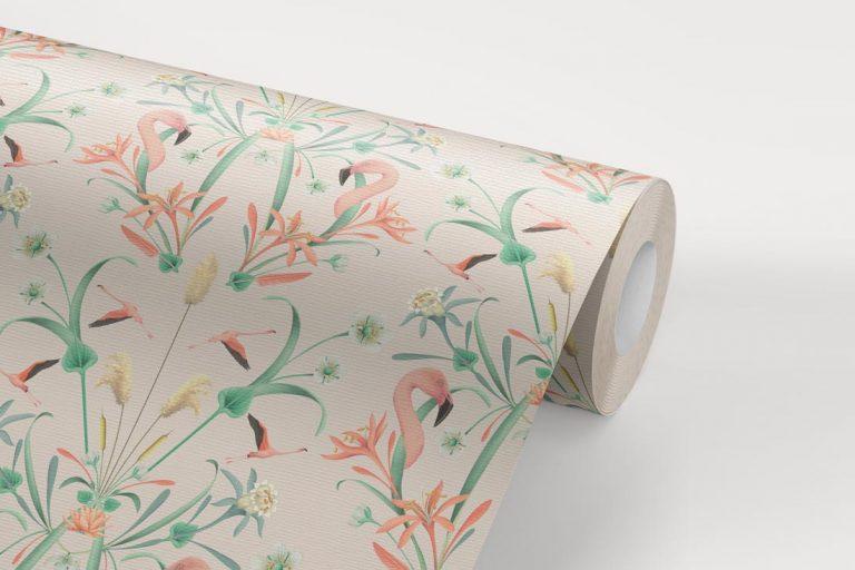 papel-pintado-tropical-con-flamencos-donana-NUDE-rollo-detalle