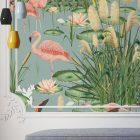 papel-pintado-tropical-con-flamencos-paisaje-donana-MURAL-SALON-detalle