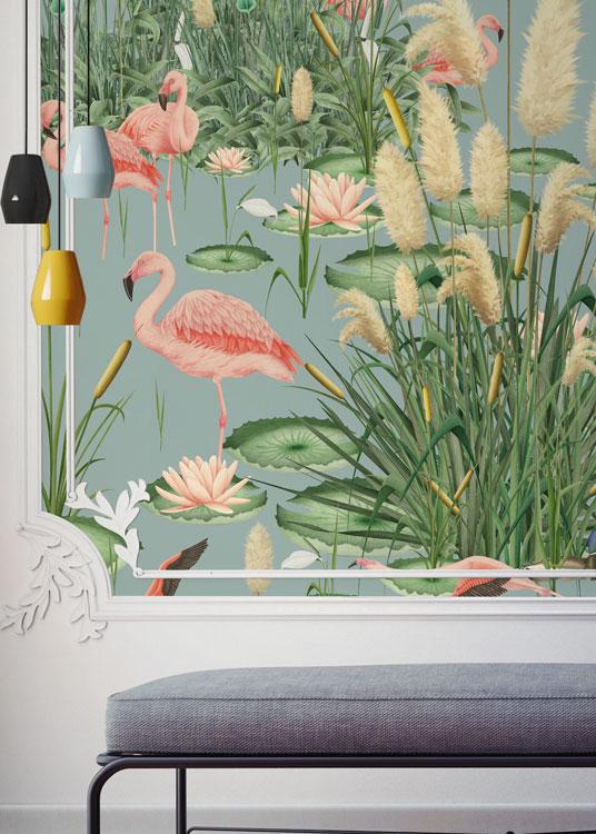 Mural papel pintado tropical da un toque original a tu hogar for Rollo papel vinilico
