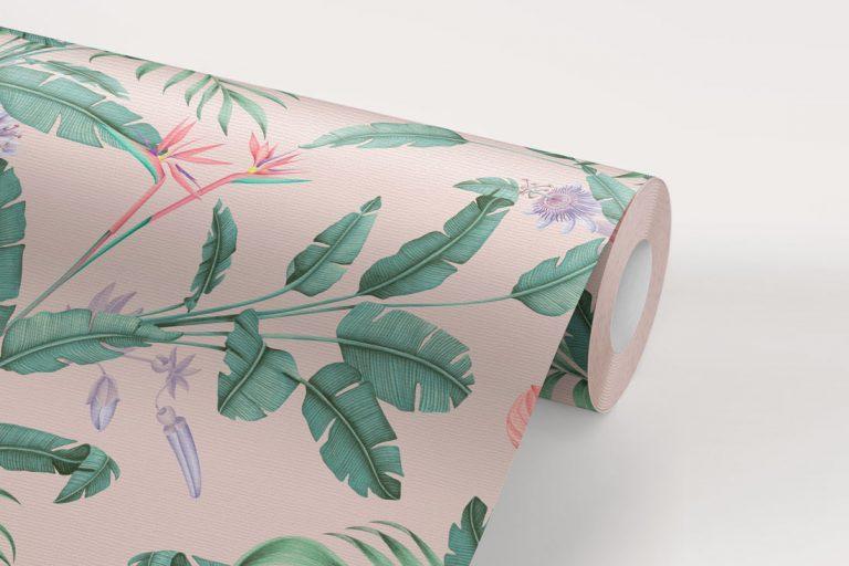 papel-pintado-tropical-con-flamencos-plataneras-palmeras-SELVA-PARADISE-rollo-detalle