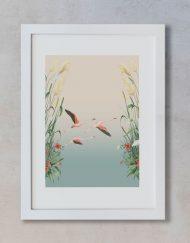 Ilustracion-acuarela-botanica-campestre-paisaje-donana-enmarcada-blanco2