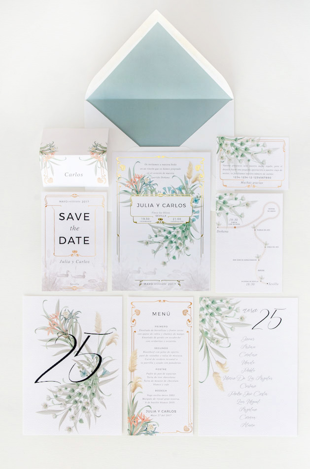 Invitaciones-vintage-de-boda-Donana-acuarela-by-Save-the-date-projects-2