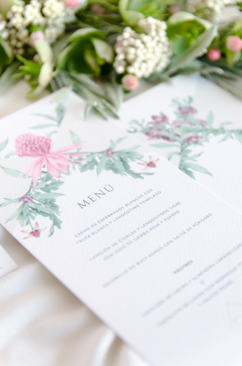 Minutas de boda varios idiomas personalizadas y protocolo Detalle 1