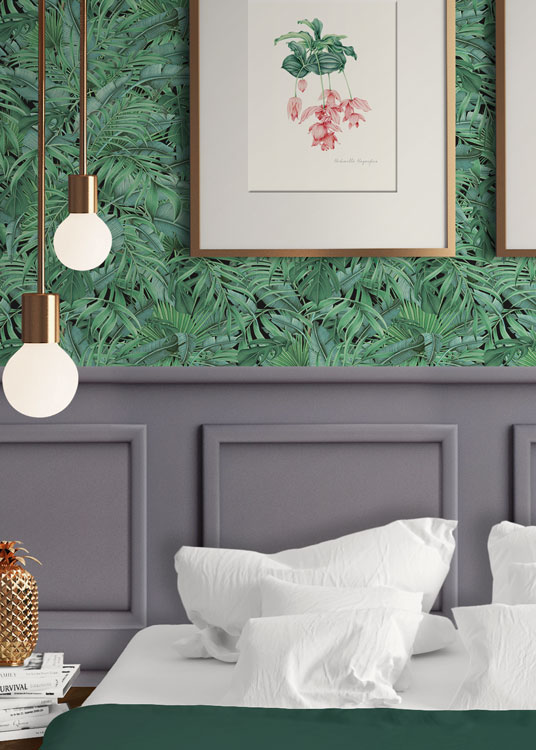 papel-pintado-tropical-con-flamencos-plataneras-palmeras-SELVA-TROPICAL-HABITACION-detalle