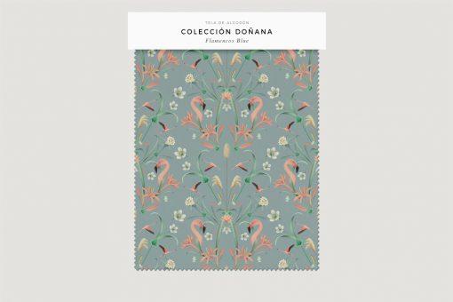 tela-de-algodon-estampada-cortinas-cojines-tropical-con-FLAMENCOS-BLUE-donana-FICHA