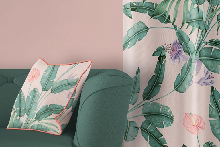 tela-de-algodon-estampada-cortinas-cojines-tropical-con-flamencos-TROPICAL-SELVA-PARADISE-cojin-detalle