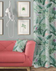 tela-de-algodon-estampada-cortinas-cojines-tropical-con-flamencos-TROPICAL-SELVA-PROFUNDA-salon-detalle