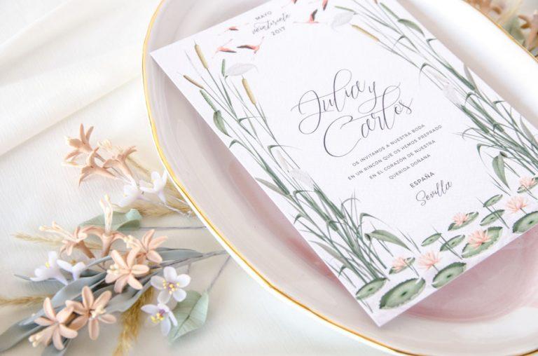 Invitaciones de boda acuarela Donana acuarela by Save the date projects-101