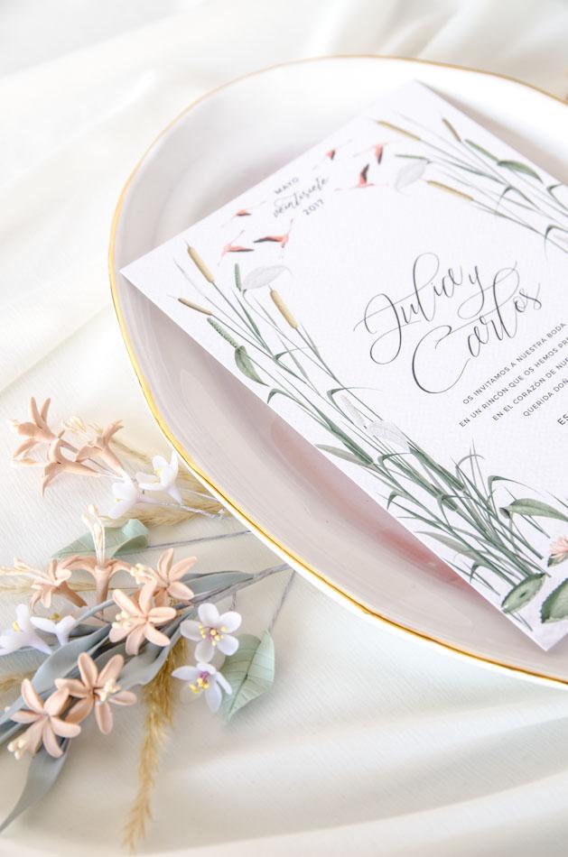 Invitaciones de boda acuarela Donana acuarela by Save the date projects-102