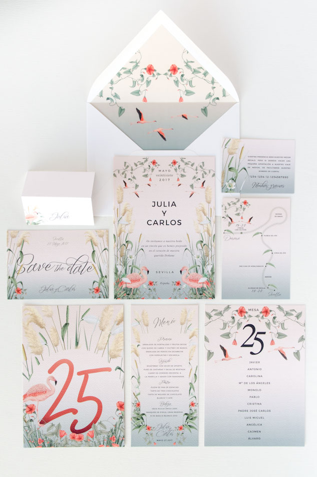 Invitaciones de boda acuarela Donana acuarela by Save the date projects-17