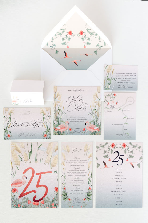 Invitaciones de boda acuarela Donana acuarela by Save the date projects-18