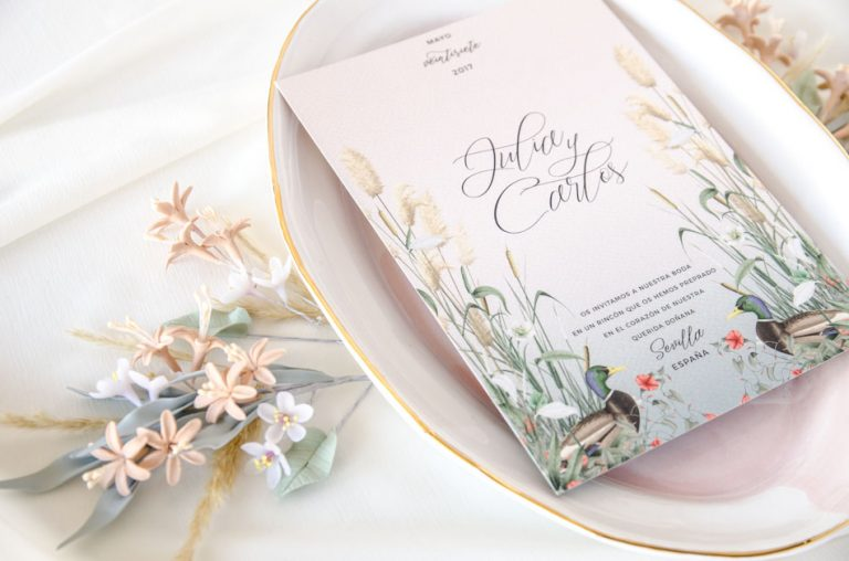 Invitaciones de boda acuarela Donana acuarela by Save the date projects-97