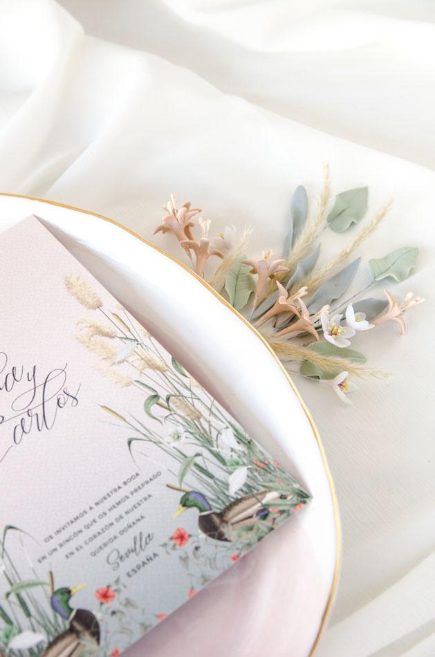 Invitaciones de boda acuarela Donana acuarela by Save the date projects-98