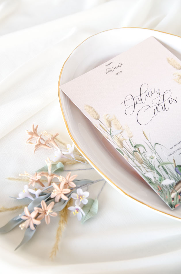 Invitaciones de boda acuarela Donana acuarela by Save the date projects-99