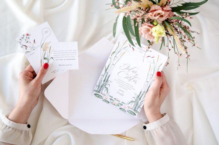Invitaciones de boda acuarela Donana corona acuarela by Save the date projects-211
