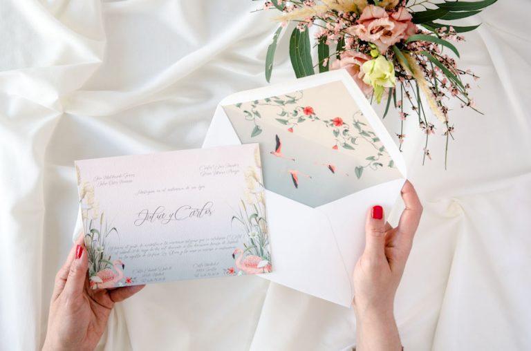 Invitaciones de boda acuarela Donana corona acuarela by Save the date projects-254