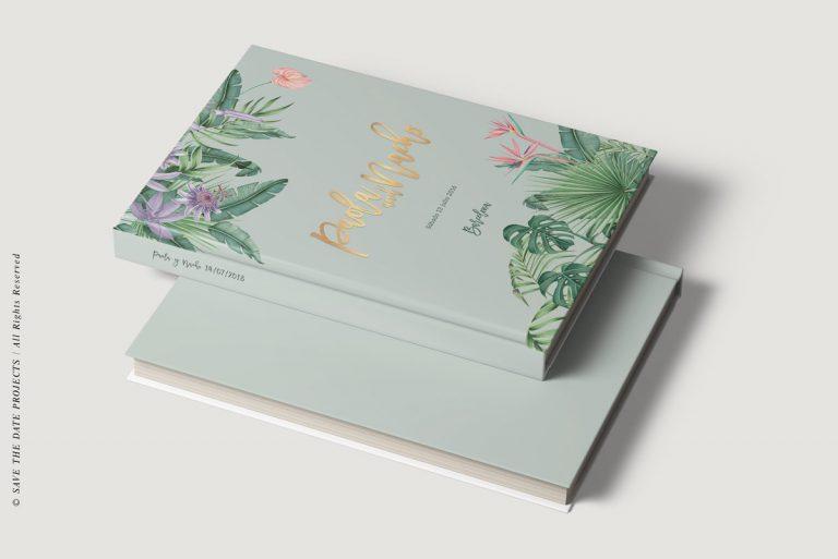 Libros de firmas personalizados bodas selva verde