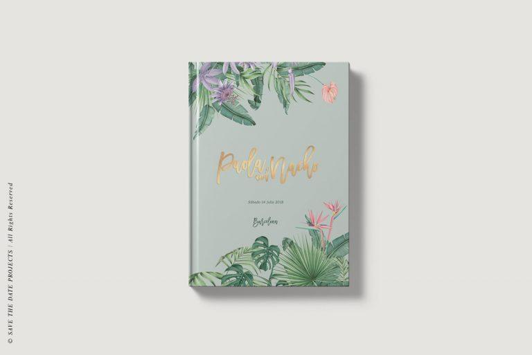 Libros de firmas personalizados portada selva verde I