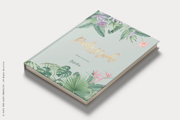 Libros de firmas personalizados portada selva verde diagonal