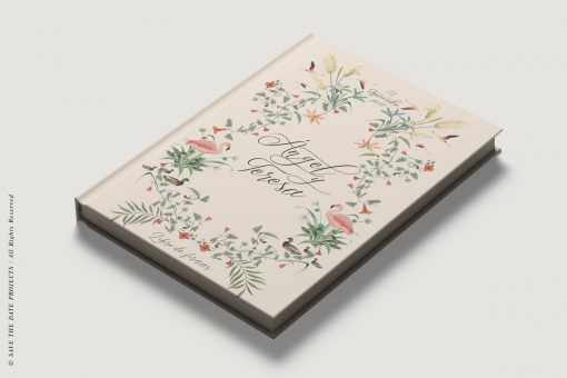 Libro de firmas testigos boda nude diagonal