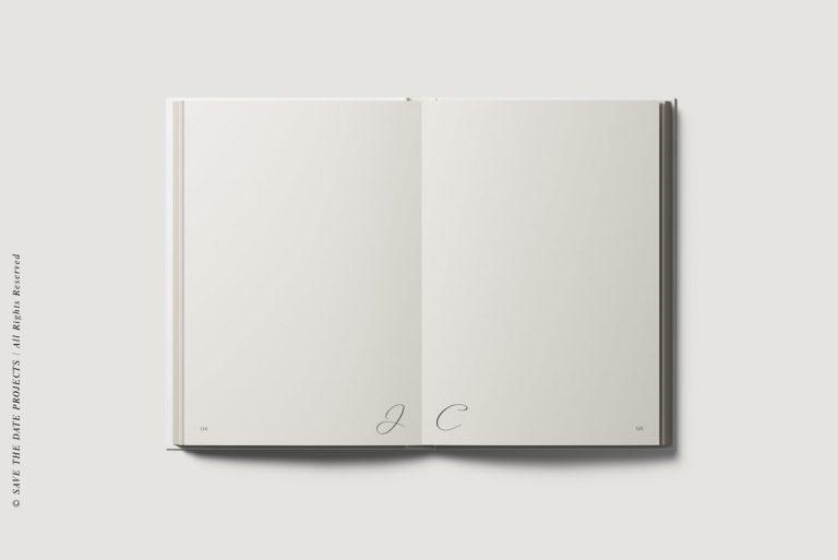 Libros de firmas bodas personalizados interiores caligrafia