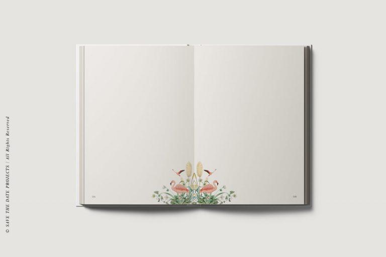 Libros de firmas bodas personalizados interiores donana
