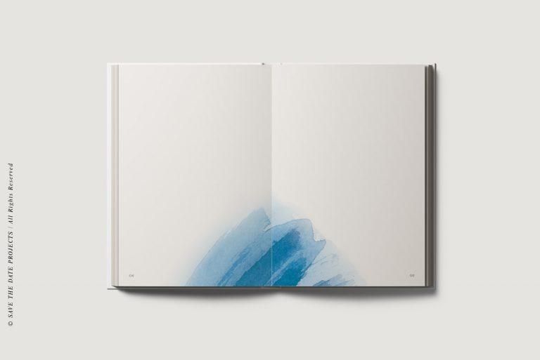 Libros de firmas bodas personalizados interiores mar