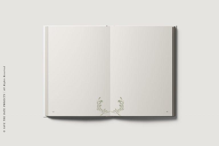Libros de firmas bodas personalizados interiores olivo